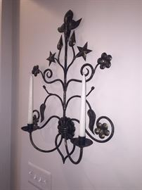 WALL SCONCE WITH CANDLES