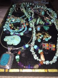 NATURAL TURQUOISE JEWELRY- NAVAJO / ZUNI / NATIVE AMERICAN