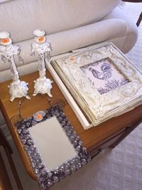 CANDLE HOLDERS AND PICTURE FRAMES