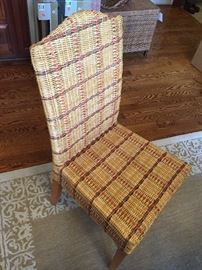PALECEK WICKER CHAIRS--4 AVAILABLE