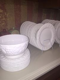 WORLD MARKET MADE IN ITALY IVORY DISHES