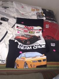 MENS  T-SHIRTS AUTOMOTIVE, RACING, CHEVY, GM, DREAM CRUISE- POLO SHIRTS