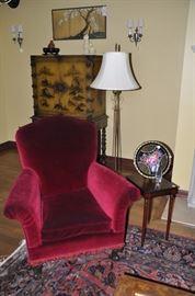 Carved Walnut Lounge Chair circa 1900