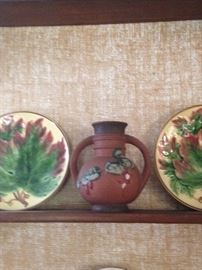 antique Majolica and Roseville
