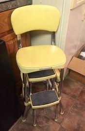 Yellow retro stool
