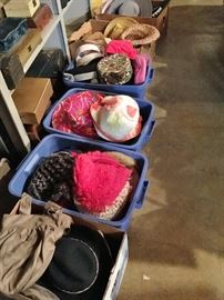 You won't believe but there are more hats! Tams, knit, caps, pillboxes, straw and cloth brims!