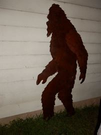 Yeti ( Big Foot) Silhouette Tin Cut Out