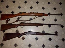 7mm Mauser, Ranger 22 LR,, 12 GA.