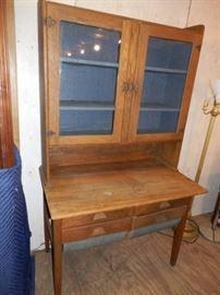Oak Possum Belly Kitchen Cabinet