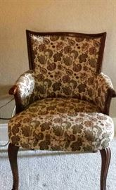 upholstery chair with brass nails