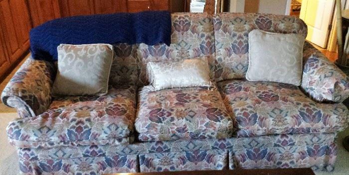 three pillow sofa