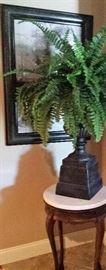 plant stand, greenery, art