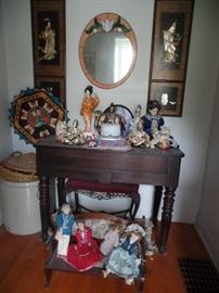 Crazy collection of Oriental, Native American, Victorian and primitives