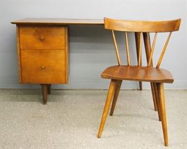 Planner Group by Paul McCobb Mid Century Desk & Chair