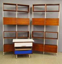 Pr. Mid Century Walnut Bookcases, Chest by Gregory, Mayer & Thom Co (Detroit)