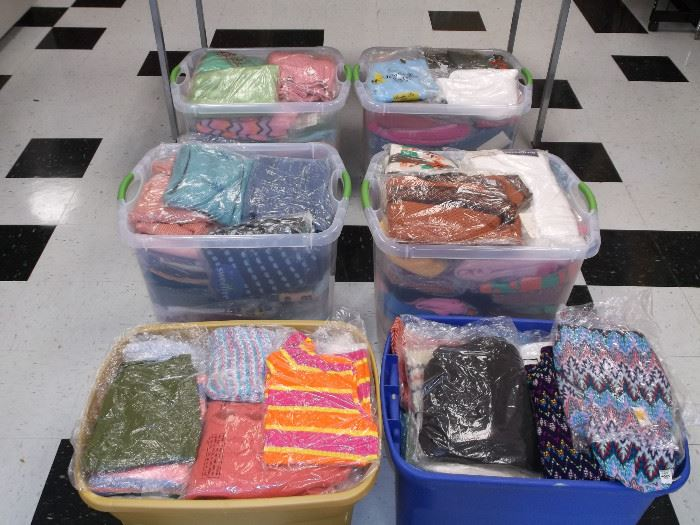 Yup. More tubs of vintage Sweaters