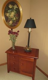 DRAWERED / DOORED CABINET / PICTURE /VASE / LAMP