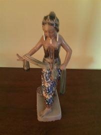 Vintage Dahl Jensen Denmark Porcelain Figurine Javanese Dancer #1114