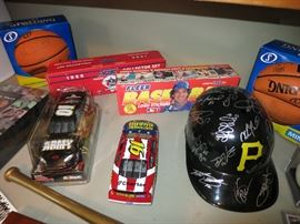 1989 Fleer Baseball Cards, 1988 Score Collector Set, National Guard and Army Race Car, Spaulding Mini Signed Basketballs