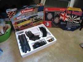 Carrera Go Nascar Slot Car Racing Set, The Bandit Bristle Dartboard, Dartboard Wall Protector