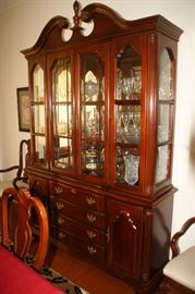 Lovely Lexington China Cabinet with dining table and side board