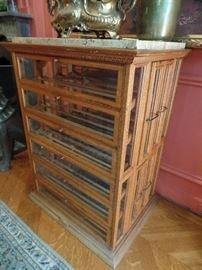 Antique spool holder. great for storing wine