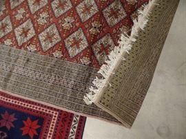 Lots of wool rugs from Iran, Turkey, etc