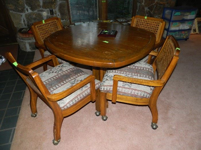 great game table and four chairs