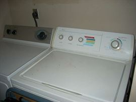Whirlpool Washer and GE Dryer