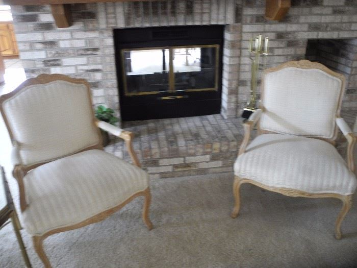 Two lovely French chairs