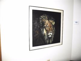 Gorgeous large Lion painting