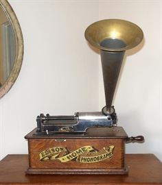 Edison Home Phonograph with horn