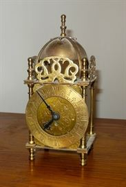 Vintage Brass Clock Made In England