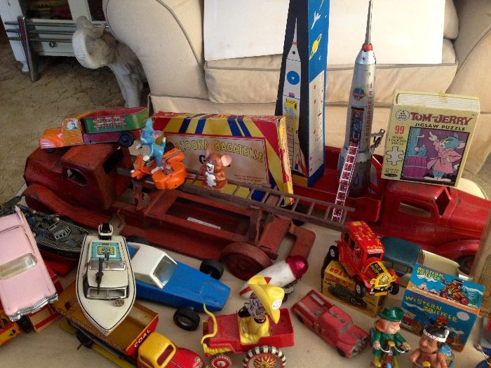 Here are a few of the vintage toys we will be selling.