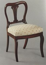 """12 of Original Set of 16 of Duncan Phyfe """"Lotus-Back"""" Side Chairs"""