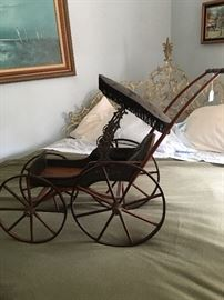 Restored Antique Doll Pram