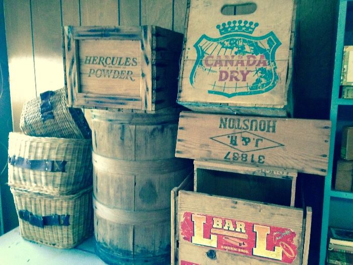 Vintage fruit crates amo crates soda crates and more!