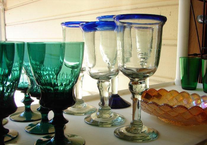 stemware, margarita glasses too