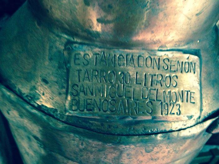 Buenos Aires 1923 copper milk jug