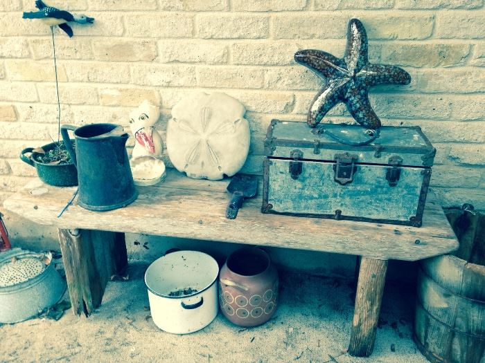 Fun outdoor garden items galore at this sale, this is just a sampling