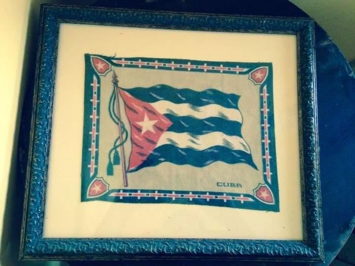 Many items from early travel to Cuba
