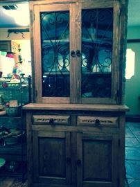 wooden hutch