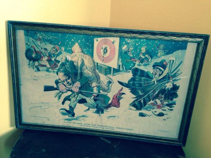 old political cartoon re Cuba