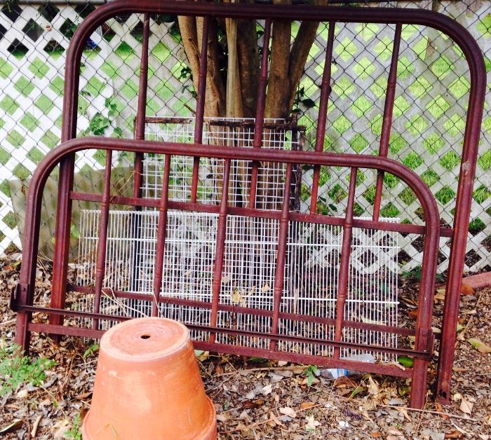 old iron bed frame