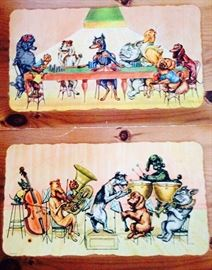 paper dogs theme trays
