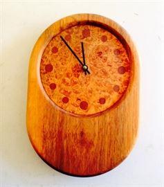 burled wood clock