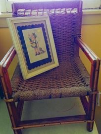 childs rope chair