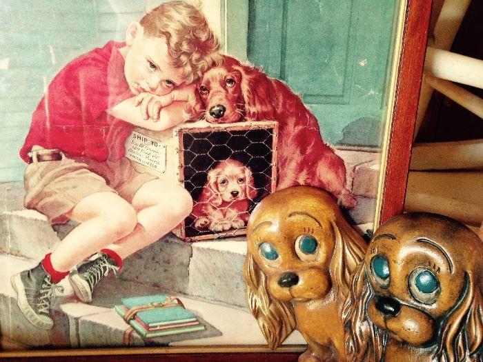 vintage puppy items