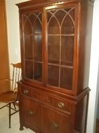 vintage china cabinet and matching table and buffet