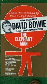 Original Poster David Bowie as The Elephant Man